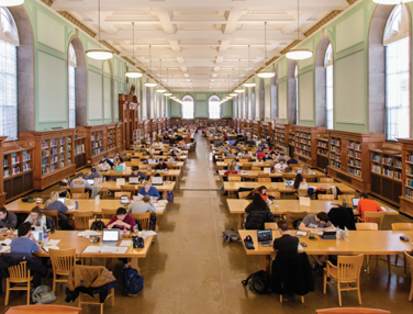 library filled with students