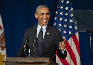 barack obama standing at a podium