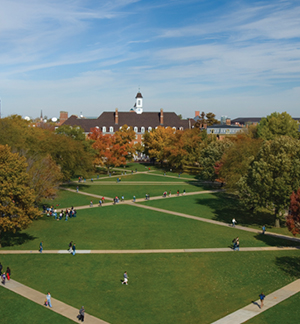 distant picture of the south side of illini union