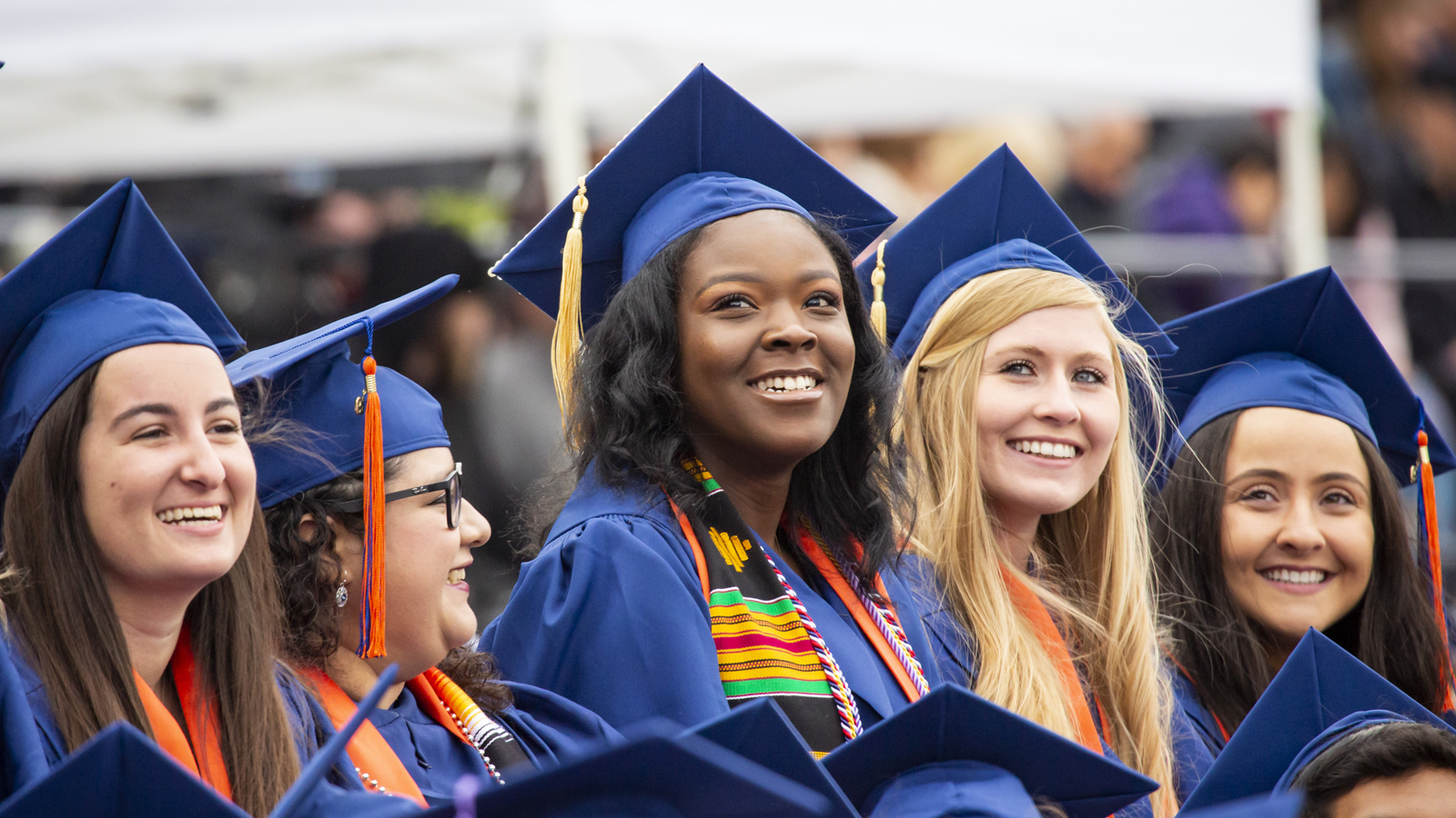 Students at Illinois Commencement